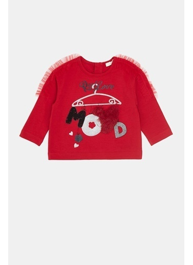 BG Baby Kız Bebek Kırmızı T-Shirt 20Fw0Bg2514 Kırmızı